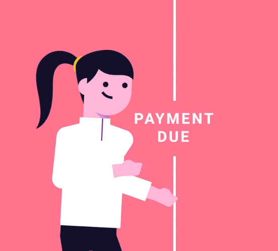 A woman learns about payment history