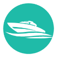 recreation boat icon